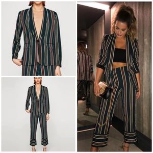 Zara Striped Suit Blazer